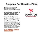 Coupons for Donatos Pizza