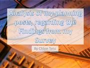 analysis of my planning posts regarding my findings from my survey