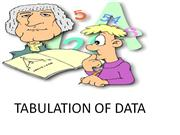 tabulation of data