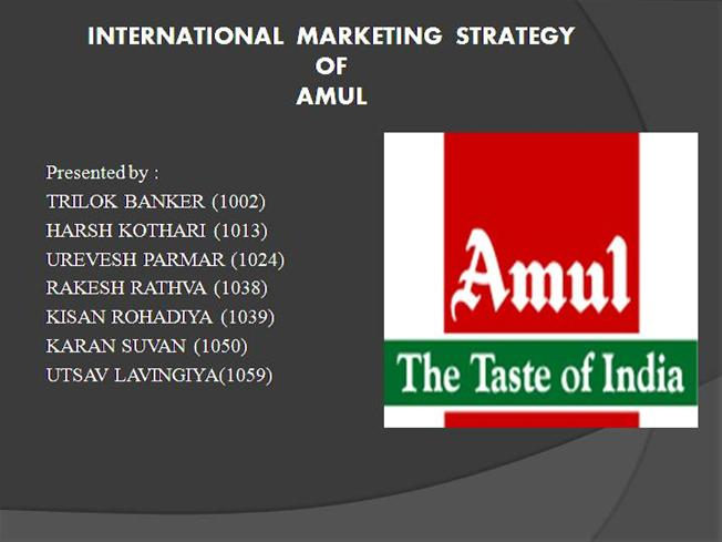 promotional strategies adopted by amul