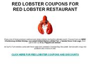 RED LOBSTER COUPONS FOR RED LOBSTER RESTAURANT