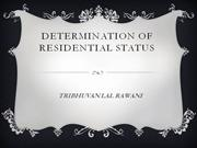 DETERMINATION OF RESIDENTIAL STATUS