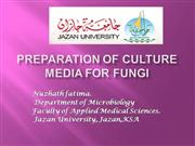culture media for fungi