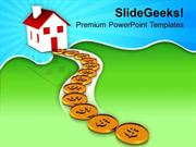 PATH TO HOME USING DOLLAR REAL ESTATE POWERPOINT TEMPLATE