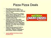pizza pizza deals