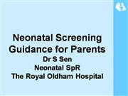 Parent screening leaflet