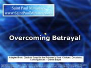 Bible Study - Mark 14:17 Overcoming Betrayal