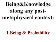 Being and Probability