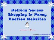 holiday season shopping in penny auction websites