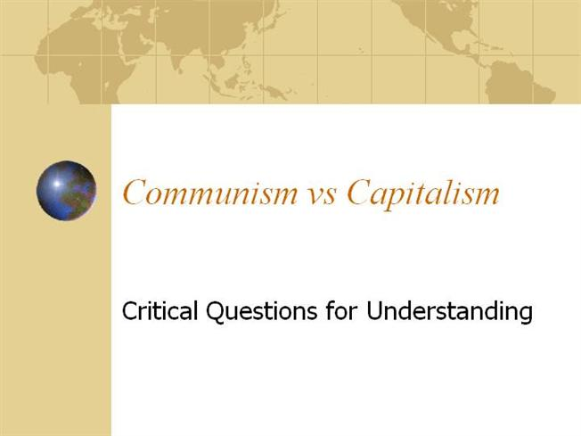 Comparing Capitalism And Socialism Lesson Plan