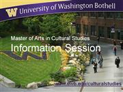 Master of Arts in Cultural Studies - TEST 1