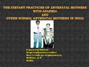 the dietary practices of antenatal mothers