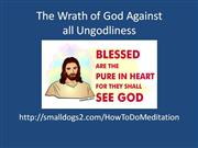 the wrath of god against ungodliness