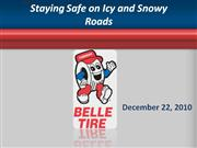 staying safe on icy and snowy roads