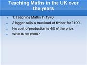 Teaching maths in the uk over the years