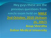 anup shrestha. nmcle exam questions 16 th ashwin 2067