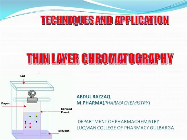 column and thin layer chromatography 2 essay Free essay: title page chelsea maksin organic chemistry laboratory 1 column and thin layer chromatography: the separation of spinach pigments russ hoburg.