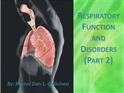 Respiratory Function and Disorders Part 2