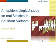 an epidemiological study on oral function in southern vietnam