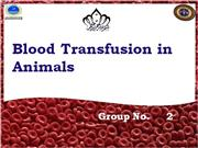 Blood Transfusion in Animals