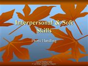 Interpersonal-Skills- Phone Handling