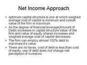 Net Income Approach