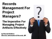 Records Management For Project Managers