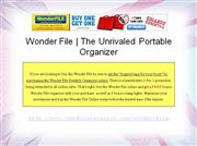 Introducing Wonder File - The Portable Organizer Has Just Evolved