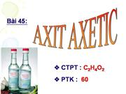 Axit Axetic