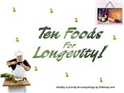 Healthy Foods Longevity