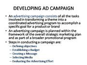 DEVELOPING AD CAMPAIGN