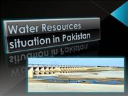 water resource satuation in pakistan