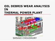 OIL DEBRIS WEAR ANALYSIS IN THERMAL POWER PLANT