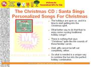 the christmas cd : santa sings personalized songs for christmas