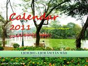 CALENDAR 2011 -LICH AM TAN MAO -Vietnam landscape