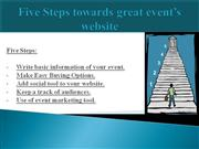 Five Steps towards great events website