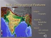 india: geographical features