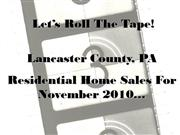 lancaster pa real estate highlights - november 2010