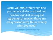 Reasons Why You Need a Prenuptial Agreement