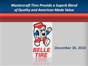 mastercraft tires provide a superb blend of quality and american made