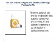 Bid now and win an Apple iPod Shuffle