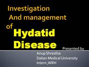 investigation and management of hydatid cyst