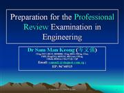 preparation for professional review exam in engineering