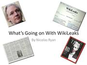 Current Events Project - Wikileaks