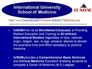 admissions for doctor of medicine (m.d.) and premed program at iusom