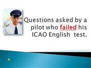 ICAO English test questions
