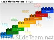 8 Steps Lego Blocks PPT Chart