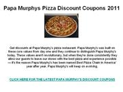 Papa Murphys Pizza Discount Coupons 2011