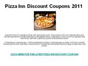 Pizza Inn Discount Coupons 2011