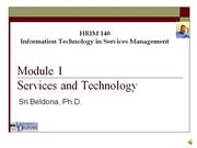 Module 1 - Services and Technology